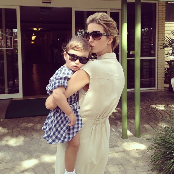 Mommy-daughter style! Ivanka Trump shared this sweet photo with her daughter, Arabella, at the PGA Tour in Miami. Source: Instagram user ivankatrump