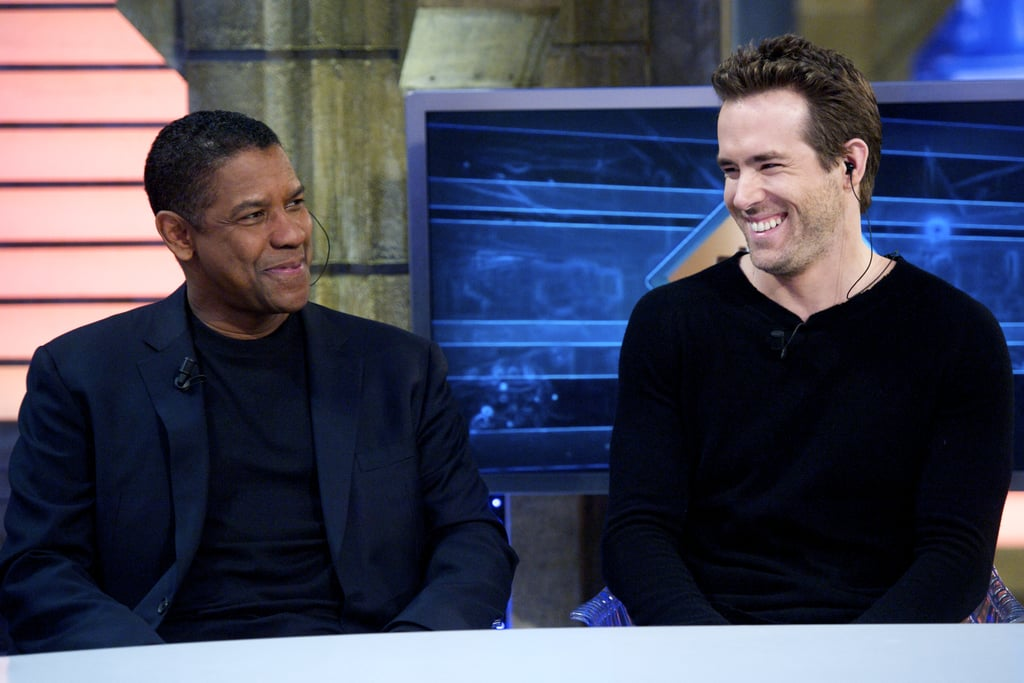 Denzel and Ryan shared a laugh.