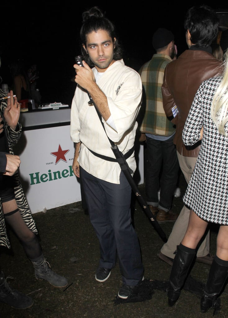 Adrian Grenier dressed up at the Hollywood Forever Cemetery in 2012.