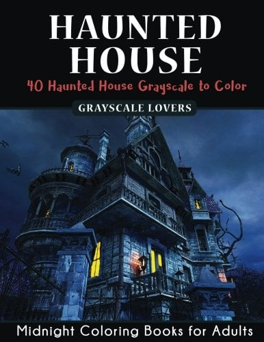 Haunted House Horror Midnight Coloring Books Challenge 7