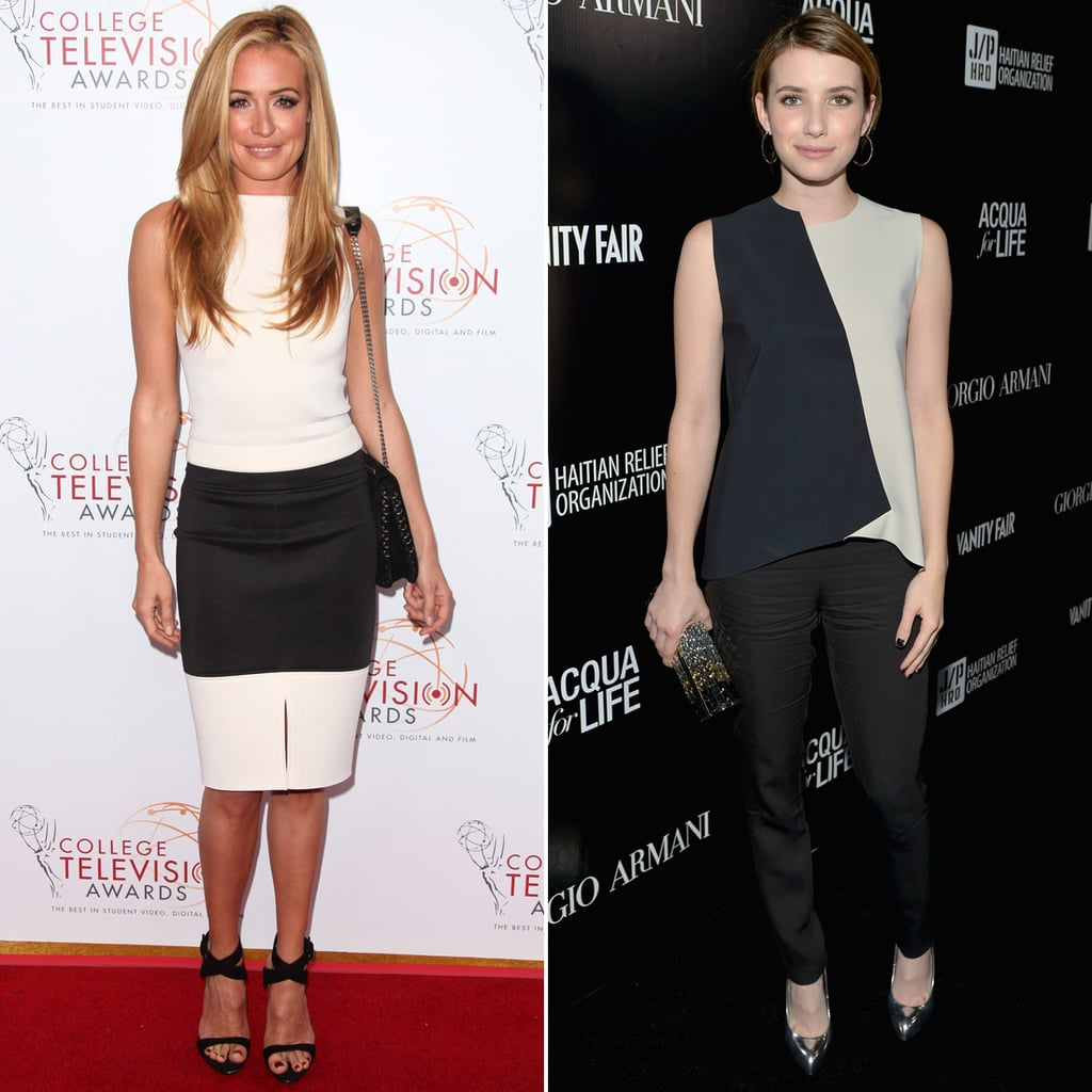 Celebrities Wear Black and White