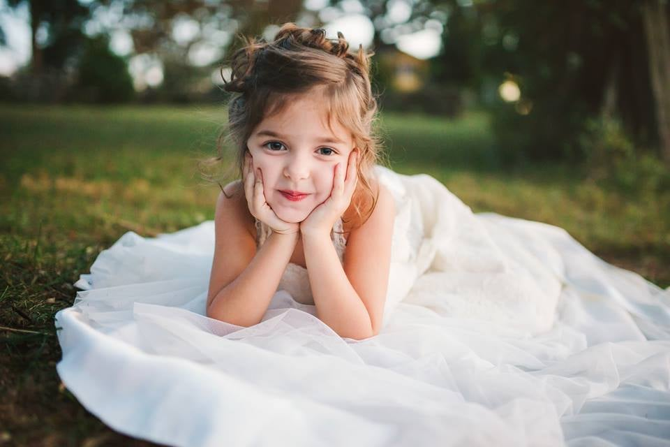Toddler Wears Late Mom\'s Wedding Dress | POPSUGAR Family Photo 12