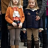 Princess Leonor and Infanta Sofía in 2012