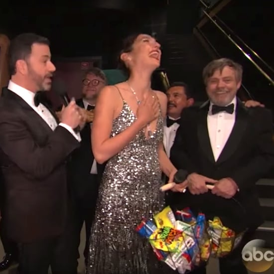 Mark Hamill Introducing Himself to Gal Gadot at the Oscars