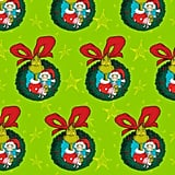Dr. Seuss Grinch Wreaths Jumbo Christmas Wrapping Paper Roll