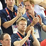 Will and Harry cheered for the home team during the London Olympics in August 2012.