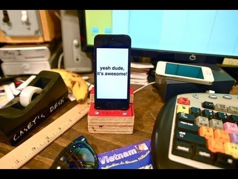 Make Your Own iPhone 5 Dock
