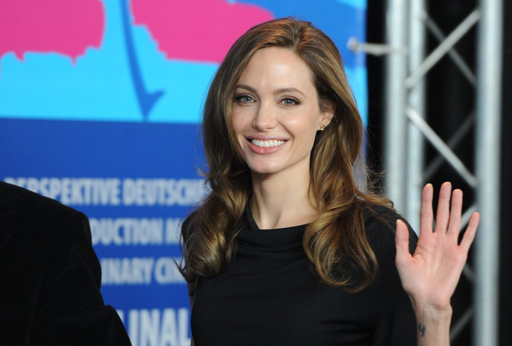 Angelina Jolie promoting In the Land of Blood and Honey.