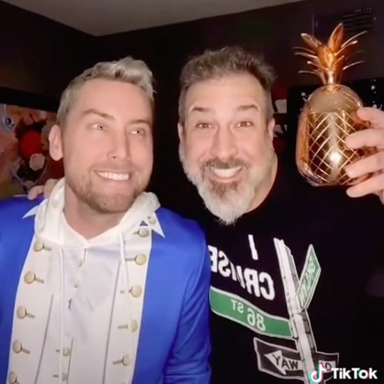 Watch Lance Bass and Joey Fatone Re-Create '90s NSYNC Photo