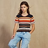 Sandro Striped Knit Top