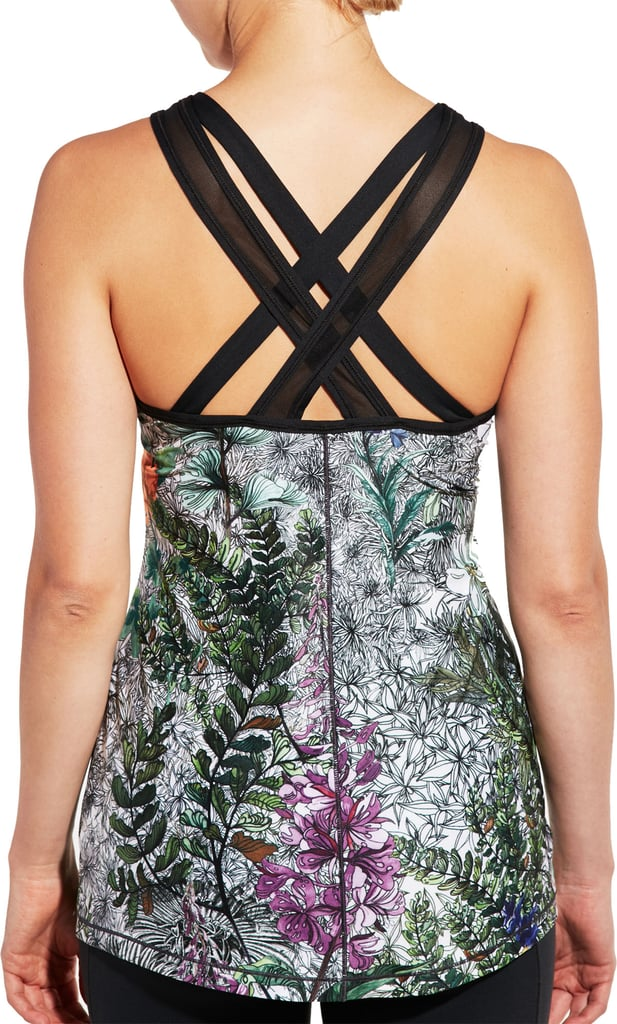 Limited Edition Fleuria Move Printed Back Strap Tank Top