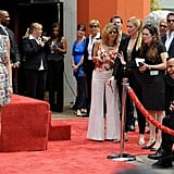Justin Theroux was full of laughs during Jennifer Aniston's February Hollywood Walk of Fame celebration.