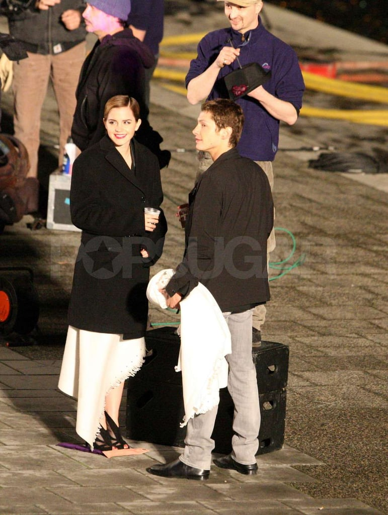 Emma Watson Gets Cozy With a Male Model at Her Lancôme Shoot