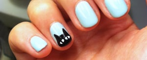 Have the Cutest Claws on Halloween With This Black Cat Manicure