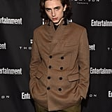 At a party during the 2017 Toronto International Film Festival, Timothée essentially wore the suit equivalent of Fall.