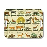 John Derian Animal-Print Melamine Serving Tray With Handles