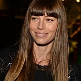 Jessica Biel had a smile on her face at her fiancé Justin Timberlake's Trouble With the Curve premiere.
