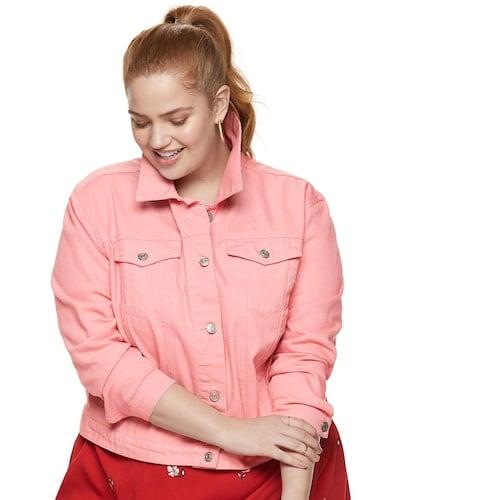 POPSUGAR Plus Size Cropped Jean Jacket