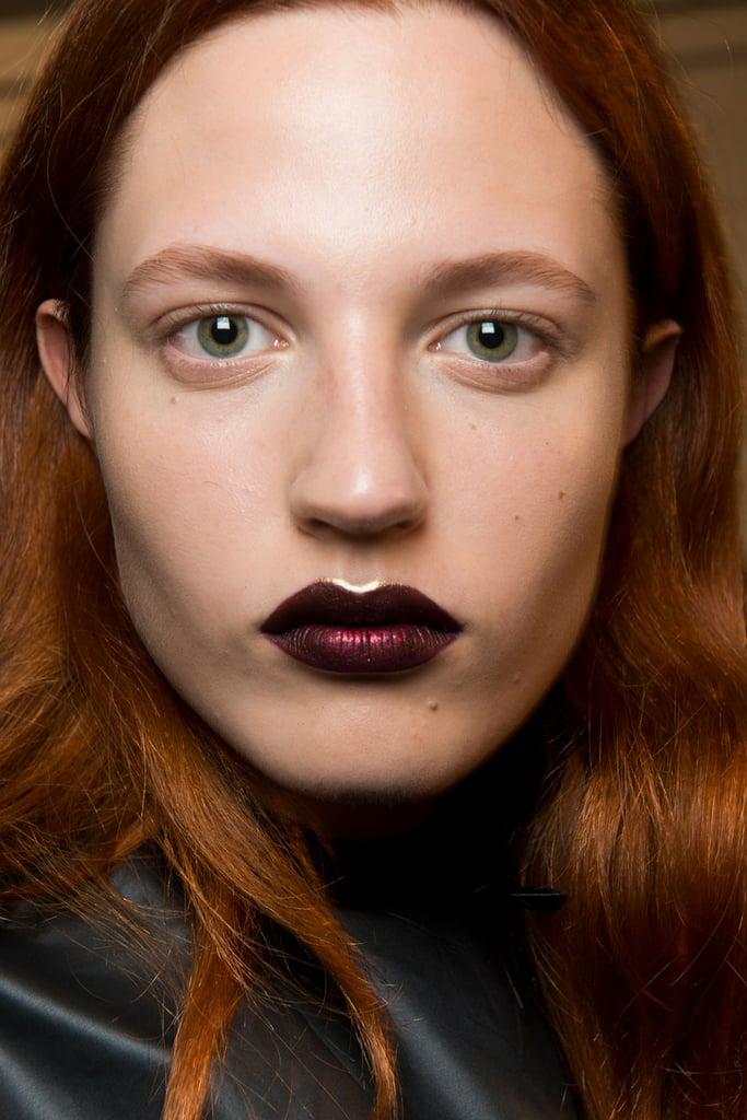 Sparkling, Burgundy Lips