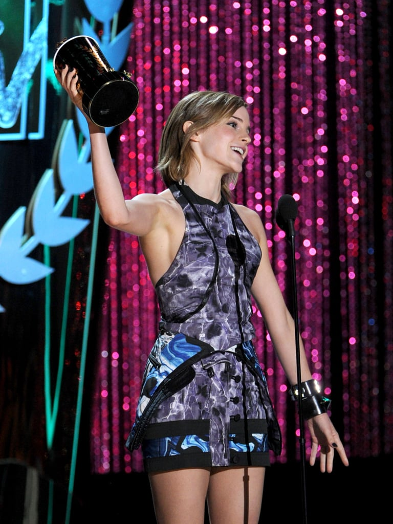 Emma Watson showed off her latest MTV prize.