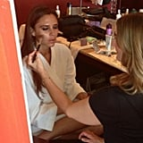 Victoria Beckham got her makeup done for an event in China. Source: Instagram user victoriabeckham