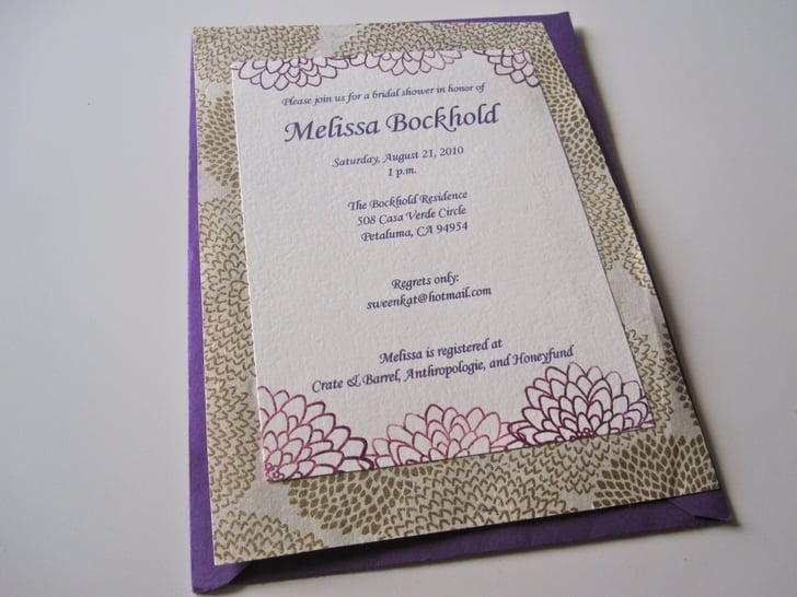 How to Make a Bridal Shower Invite