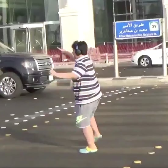Boy Doing Macarena in Streets of Saudi Arabia