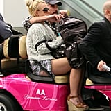 Britney Spears Rides Through the Airport in Pink Pop Star Style