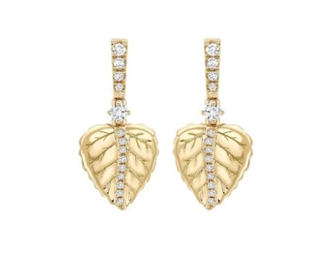Kiki McDonough Lauren Plain Leaf Earrings