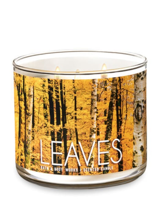 Leaves Three-Wick Candle