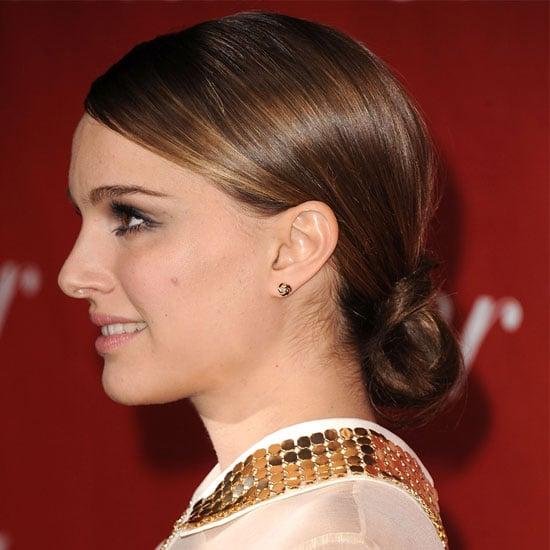 How To Get Natalie Portman S Looped Ponytail Popsugar Beauty