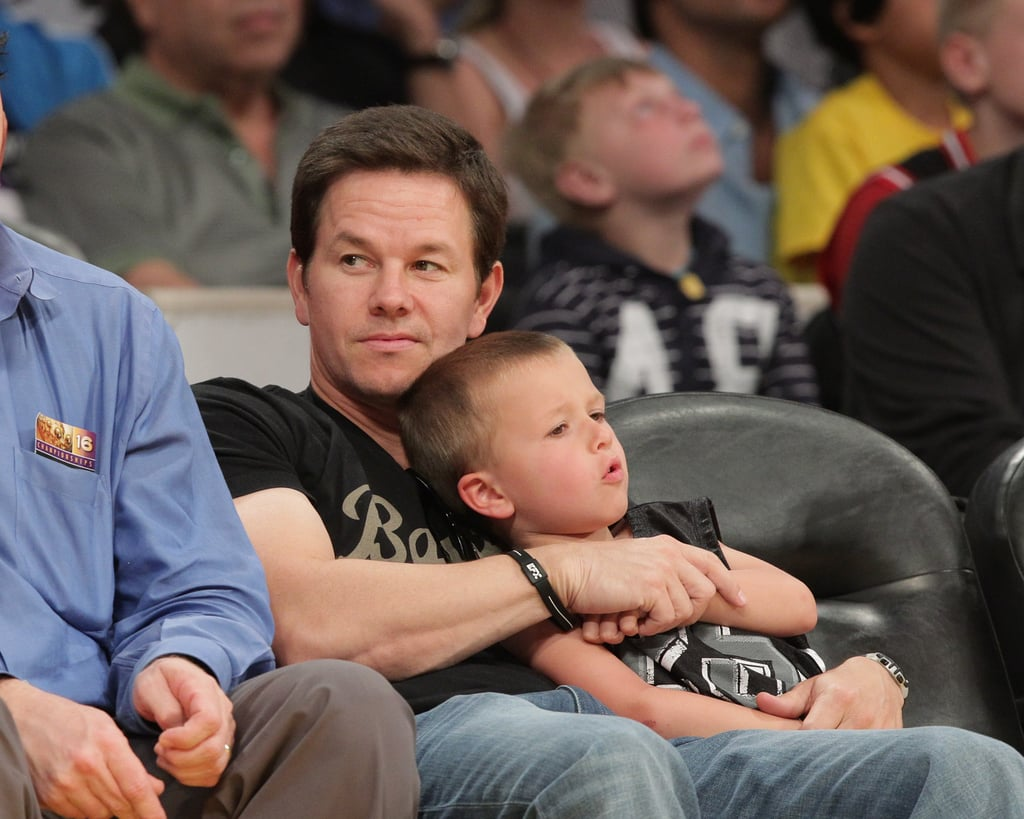 David Beckham, Mark Wahlberg, Zac Efron, and Romeo Share a Lakers Guys' Night