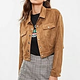 Missguided Brown Faux Suede Ultimate Trucker Jacket