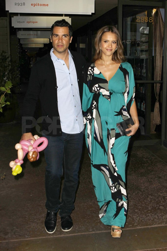 Jessica Alba and Cash Warren wore their finest for a midweek dinner at Shu Sushi in Beverly Hills last night. The dressed-up duo also made an appearance at pal Agatha Relota's book launch party to celebrate her young adults novel, Carla and Leo's World of Dance. The impending arrival of their second child hasn't slowed down Jessica and Cash, since the couple have been traveling, spending time with their daughter, Honor, and hitting the social scene. Jessica and Cash most recently hit the park with Honor following Jessica's red-carpet appearance in Dolce & Gabbana at the Covenant House gala and dinner earlier this month.