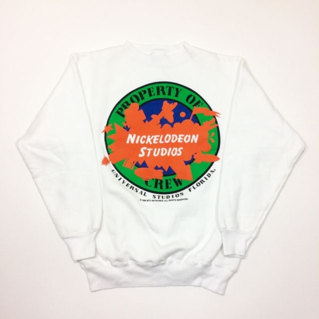 Vintage 1990 Nickelodeon Studios Property of Crew Crew Neck Sweater ($75)