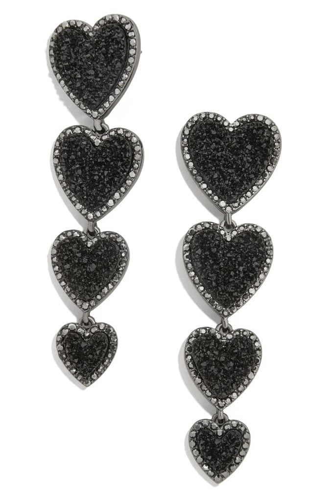 BaubleBar Louis Heart Linear Earrings