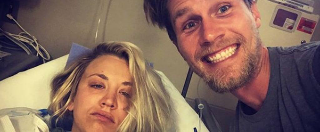 Kaley Cuoco Shoulder Surgery Instagram Pictures