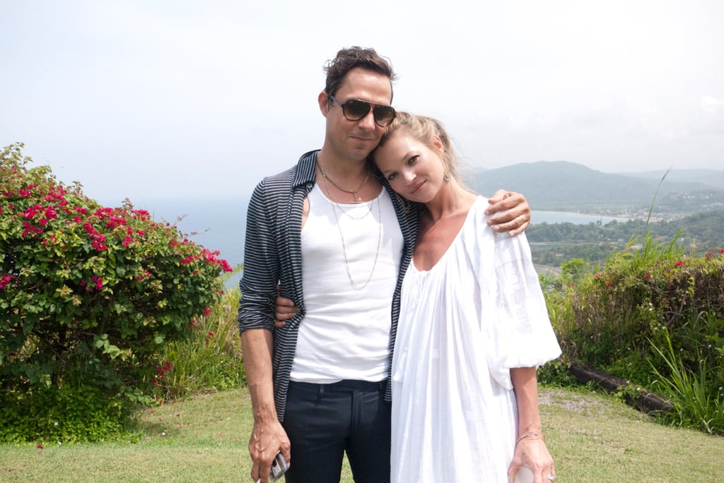 Kate Moss and Jamie Hince celebrate their third wedding anniversary tomorrow, so we're joining in on the fun by looking back at their cutest moments as a couple. After dating for nearly four years, Kate and Jamie tied the knot in July 2011 with a lavish ceremony in the English countryside and have been pretty much inseparable ever since. Whether they're jumping off a yacht or supporting each other at fashion shows and concerts, we can always count on Jamie and Kate to pack on the PDA in their own rocker-cool way. Click through to see their sweetest moments! Source: Terry Richardson