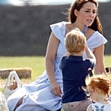 Prince George Plays With Toy Gun