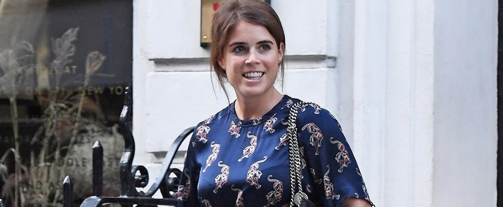 Princess Eugenie Blue Leopard Dress September 2018