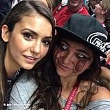 "Nina Dobrev said this fan's dramatic appearance was ""DOPE."" Source: Instagram user ninadobrev"