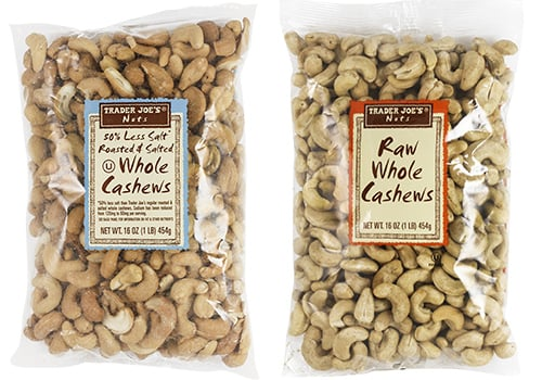 Whole Cashews ($7)
