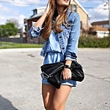 Over a Denim Romper