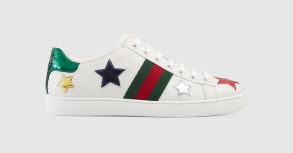 afa71cc0f84 Gucci New Ace Star Sneakers