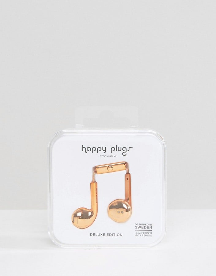 Rose Gold Metallic Earphones