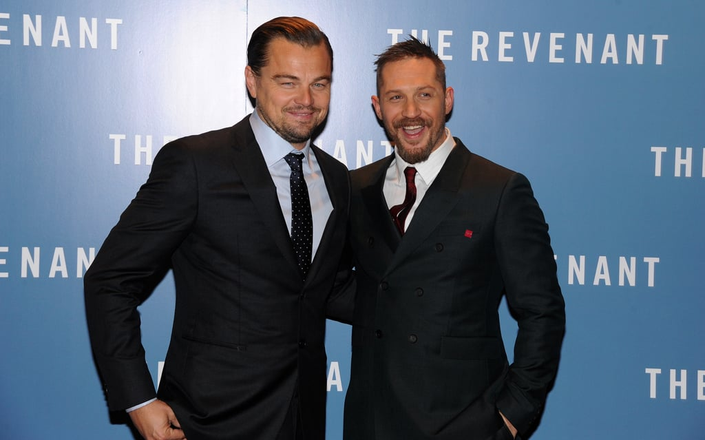 """Leonardo DiCaprio was likely the man of the hour at the UK premiere of The Revenant on Thursday; the actor, who received an Oscar nomination for best actor just hours earlier, was all smiles while linking up with his costar, Tom Hardy, who was nominated for best supporting actor for his performance in the film. They posed for photos with director Alejandro González Iñárritu, who — you guessed it — was also recognised by the Academy. Leo reacted to the nomination (his fifth) in a statement, saying, """"I am so grateful to the Academy for their recognition of this film. Making The Revenant was one of the most rewarding and collaborative experiences of my life."""" In total, the drama scored 12 nominations, and everyone will likely be tuning into the ceremony on Feb. 28 to see if Leo finally wins that Oscar award.  It's already been a big month for Leo, who not only took home an award at last week's Golden Globes but also became a viral hit with a handful of hilarious and adorable moments during the show. His reaction to fellow winner Lady Gaga walking by his chair began trending almost instantly, and sources at an afterparty that night spotted the two """"laughing together about how funny the whole thing was."""" Leo also shared a sweet encounter with his BFF and former Titanic costar Kate Winslet and sang her praises on the red carpet, telling reporters that she's his """"favourite actress in the industry."""" Keep reading to see Leo on the red carpet in London."""