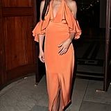 Cheryl's Bright Orange Dress Cushnie et Ochs