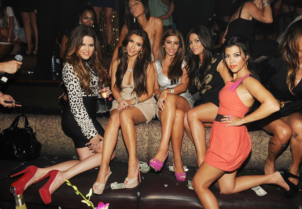 Kim Kardashian was surrounded by her closest girlfriends.