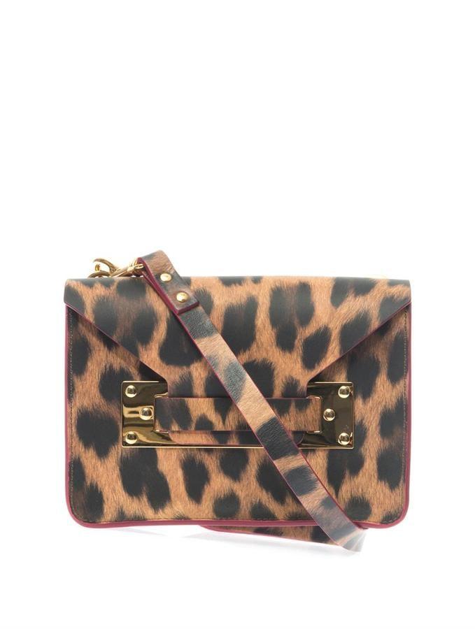 Sophie Hulme Leopard Print Mini Bag