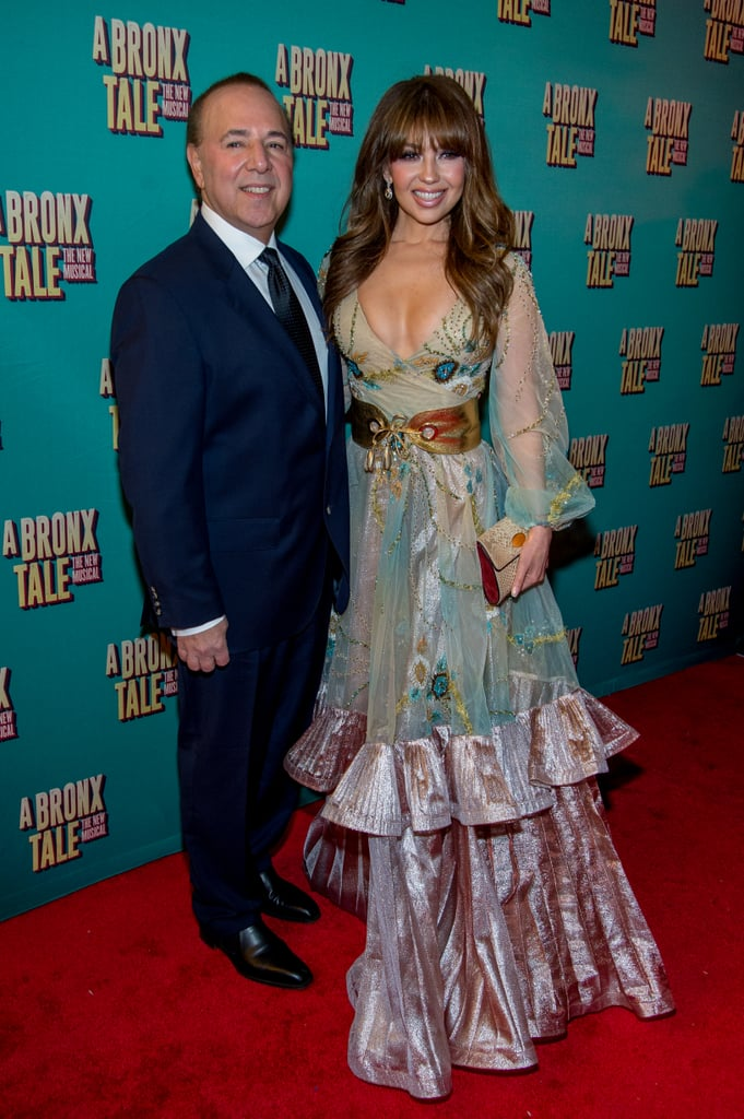 Thalia and Tommy Mottola at A Bronx Tale Broadway Premiere ...